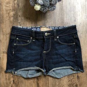 Paige darkwash denim Jean short size 25